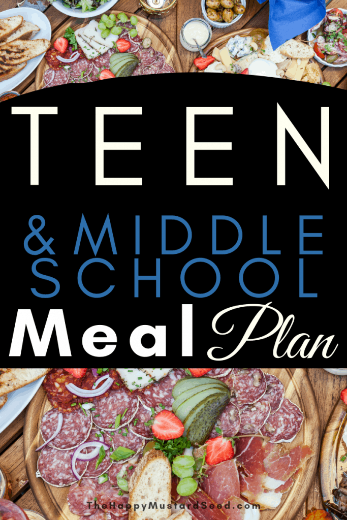 Meal Plan with Middle School and Teens