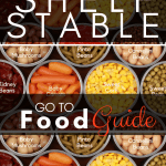 Shelf Stable Food, Shelf Stable Food Guide, Shelf stable pantry