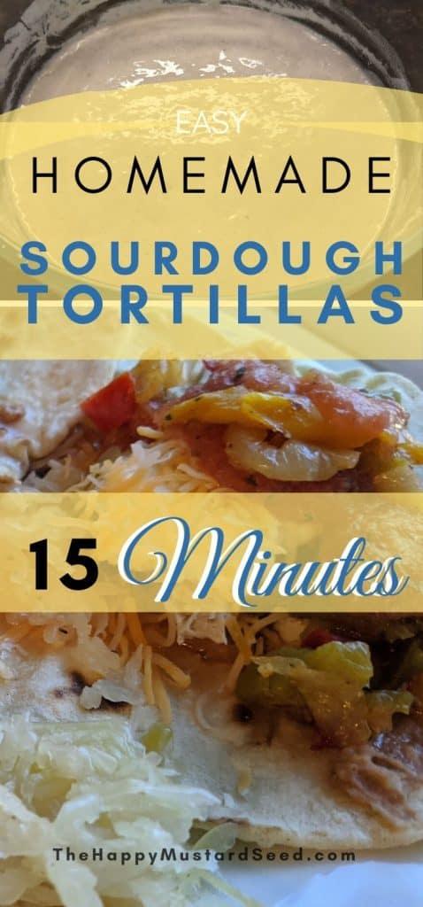 Easy sourdough tortillas