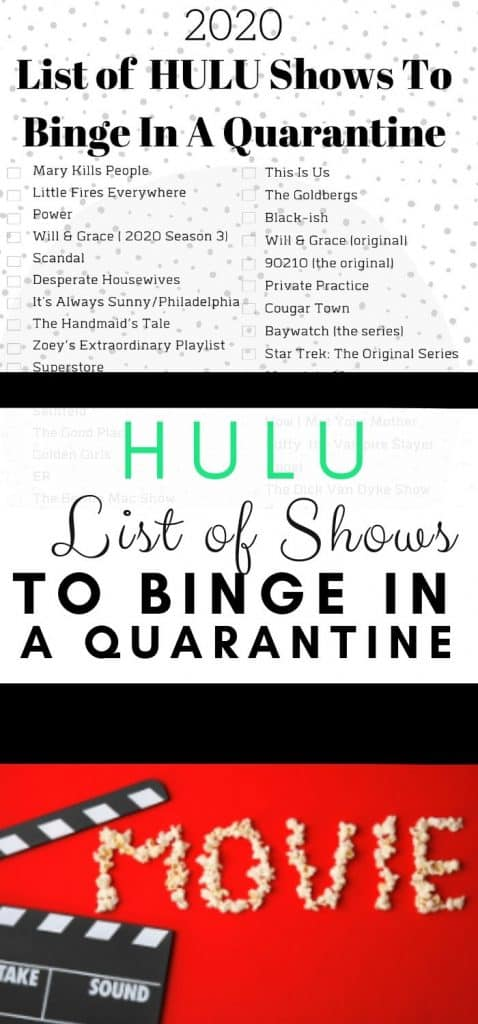 List of Hulu shows to binge in a quarantine