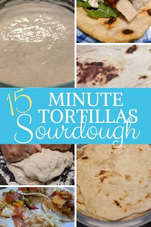 Easy 15 minute sourdough tortillas