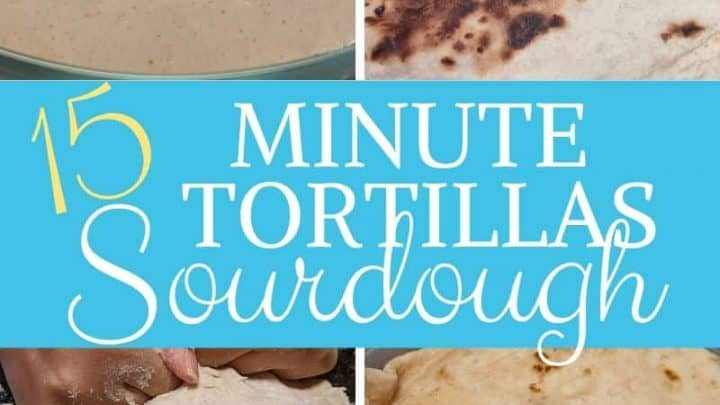 Easy 15 minute sourdough tortillas