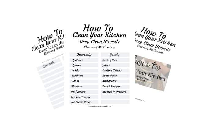 How To Clean Your Kitchen Deep Clean Utensils Free Printables