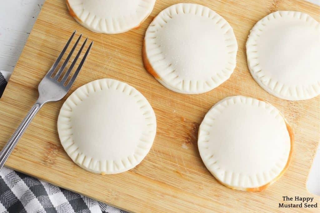 air fryer pumpkin hand pies air fryer pumpkin pies fork seal the pies