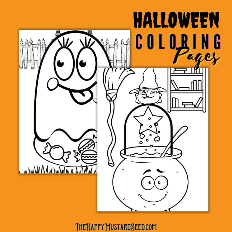 free Halloween printable coloring pages cute Halloween coloring pages