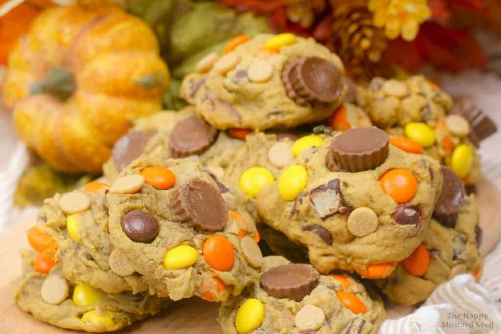 Reese's Pumpkin Chocolate Chip Cookies