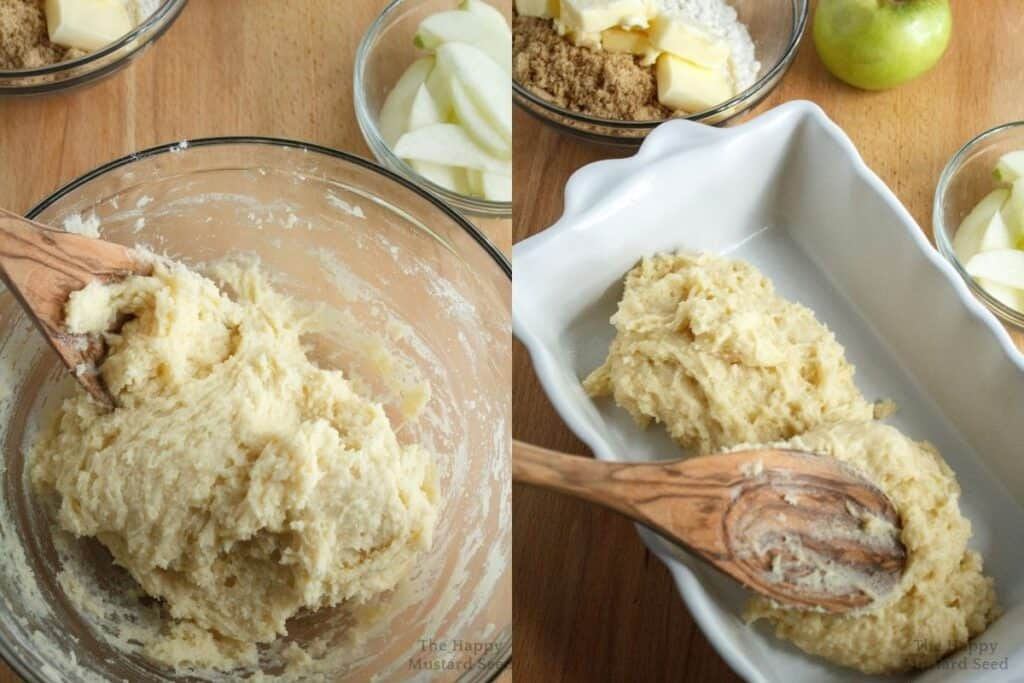 apple & cinnamon cake in pan