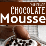 easy chocolate cheesecake mousse graphic