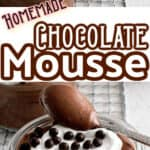 Graphic for easy chocolate mousse recipe