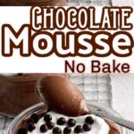 classic chocolate mousse Pinterest photo