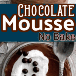 Two images of chocolate cheesecake mousse