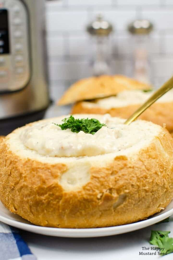 pressure cooker clam chowder