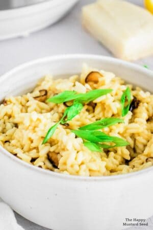 Pressure Cooker Mushroom Risotto recipe