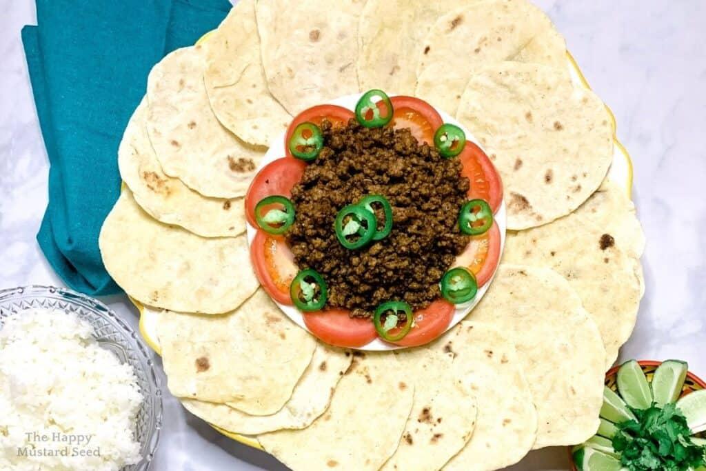 Sourdough Tacos family style
