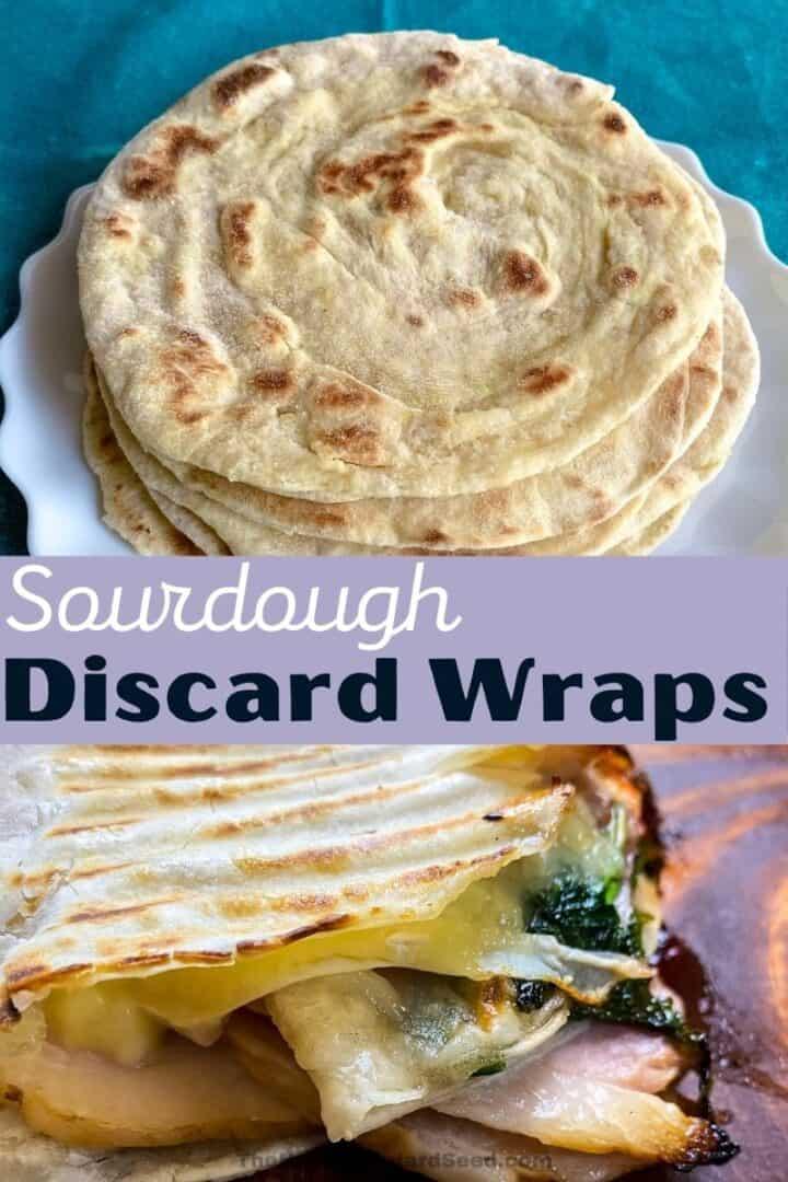Sourdough-discard-wraps