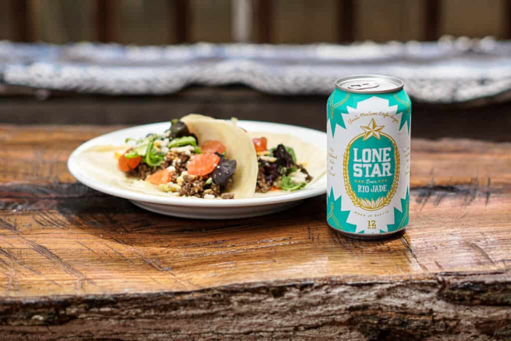 tacos and lone star beer