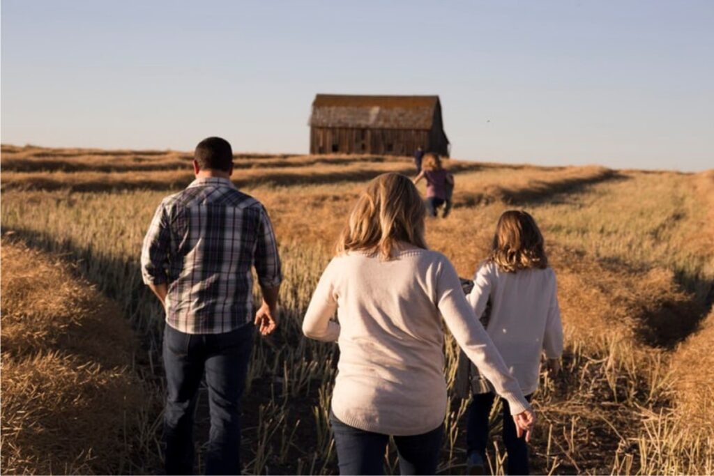 family travelling Texas