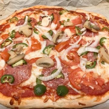 sourdough discard thin crust pizza dough