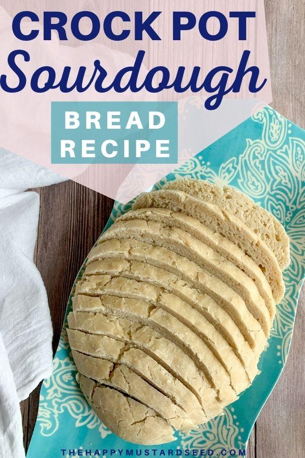 Sourdough starter bread made in slow cooker crock pot