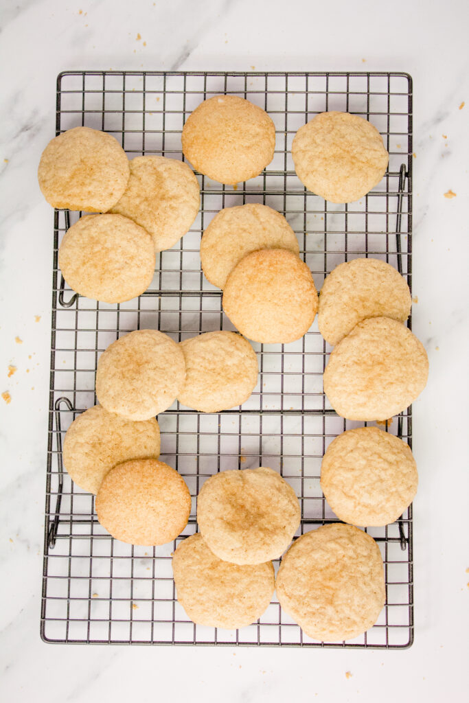 Sourdough Sugar Cookies on wire cooling rack