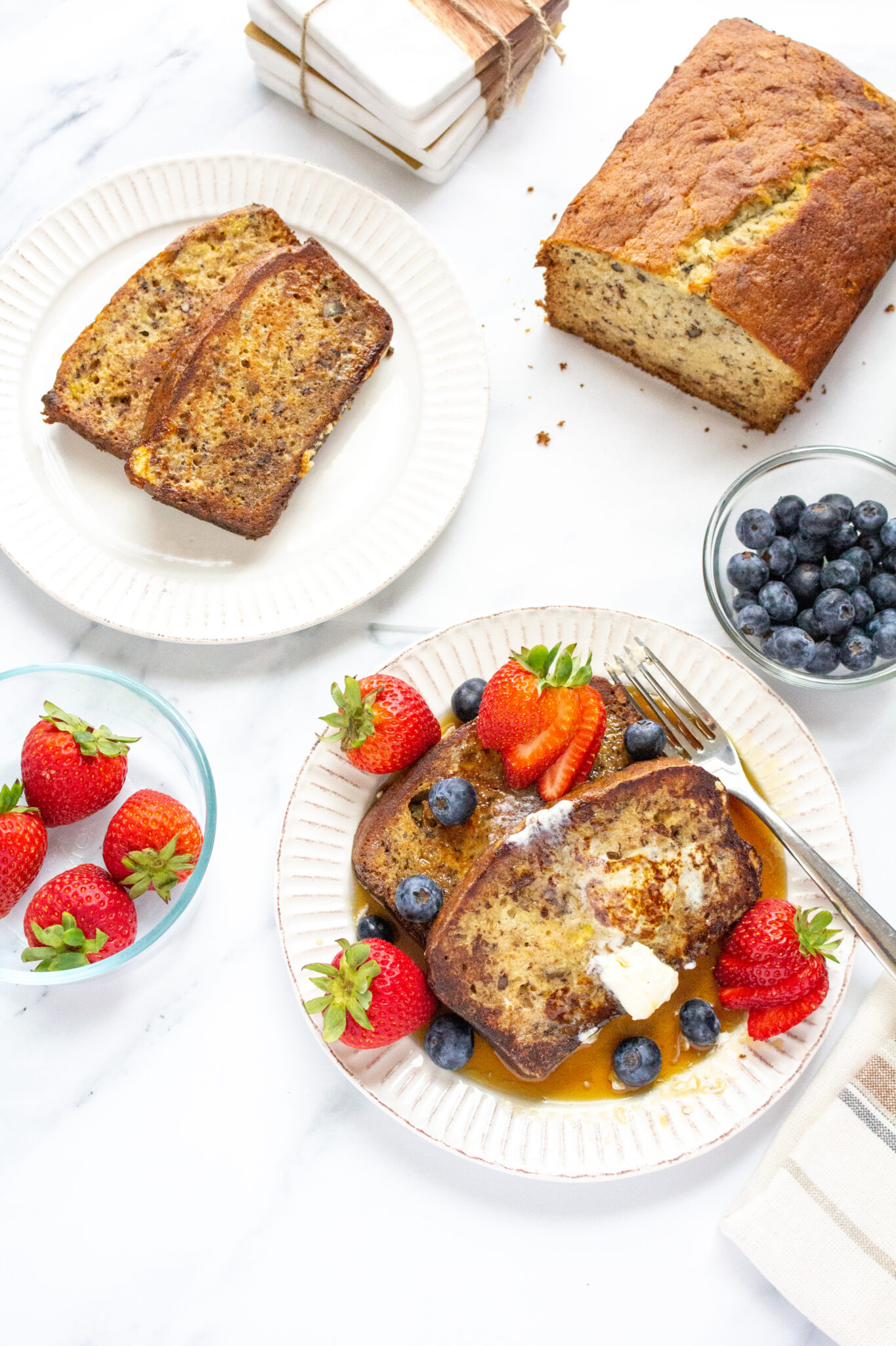 Banana Bread French Toast from The Happy Mustard Seed
