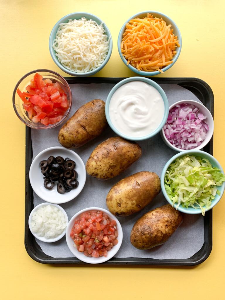 ingredients for sheet pan fries
