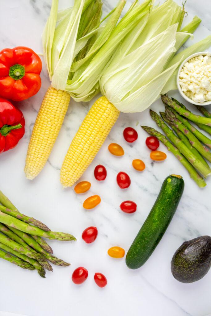 grilled vegetables salad ingredients