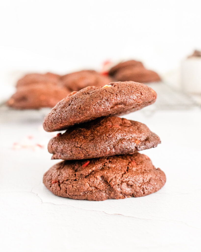 chocolate-peppermint-cookies-stacked