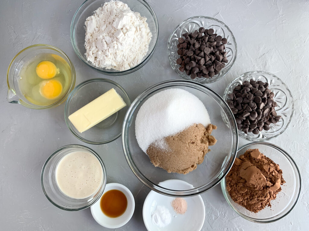 ingredients for sourdough discard cookies