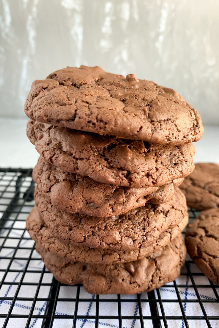 front view of sourdough discard cookies