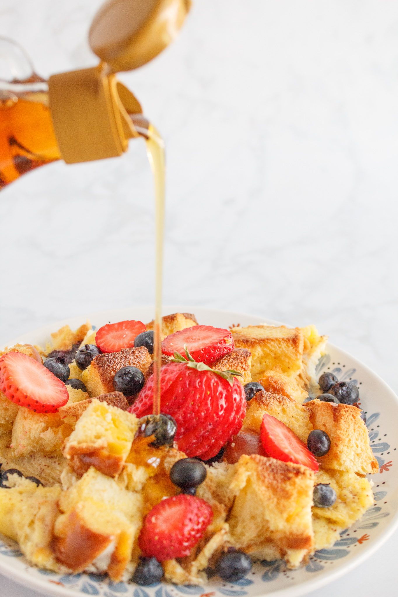 syrup over oven French toast