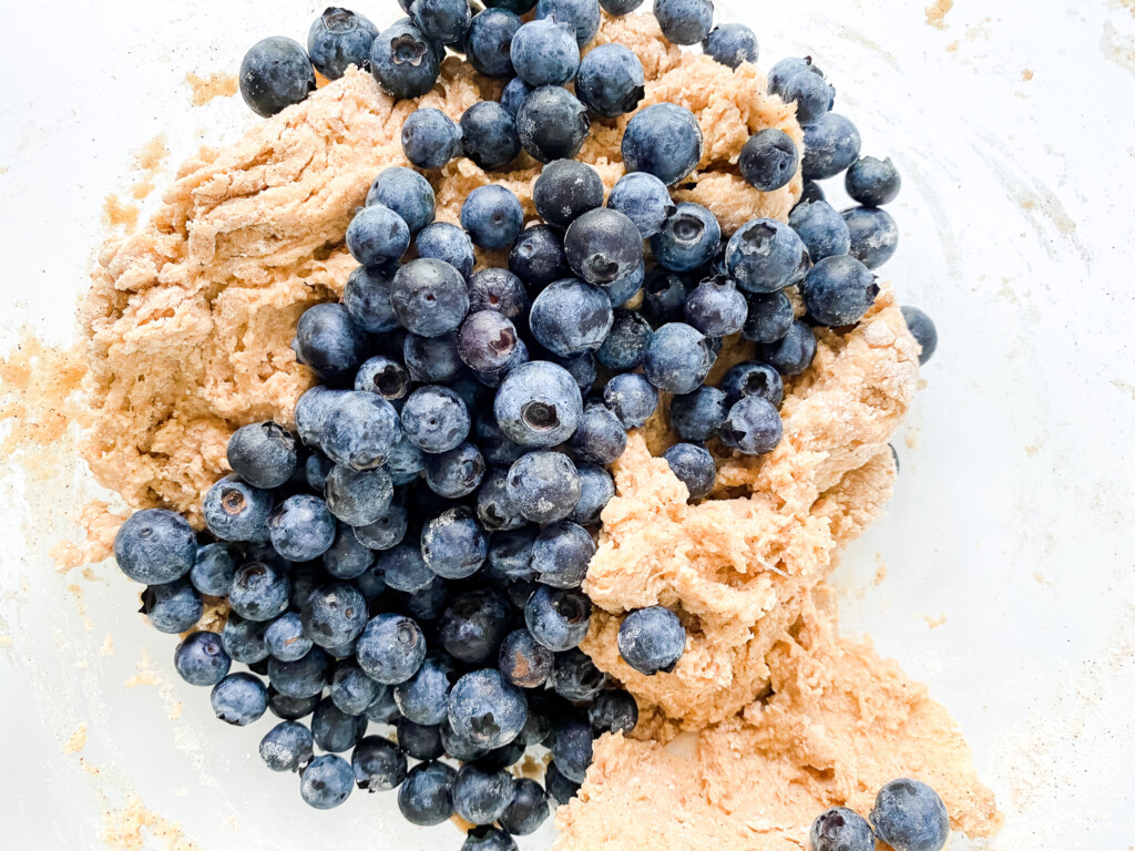 blueberries with dough