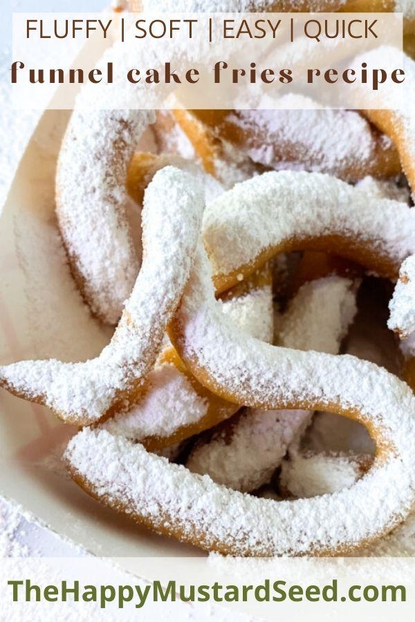 funnel cake fries recipe Pinterest graphic
