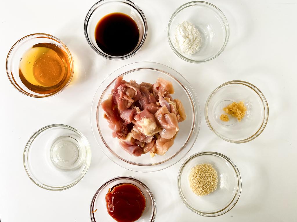Ingredients for Crockpot sesame chicken