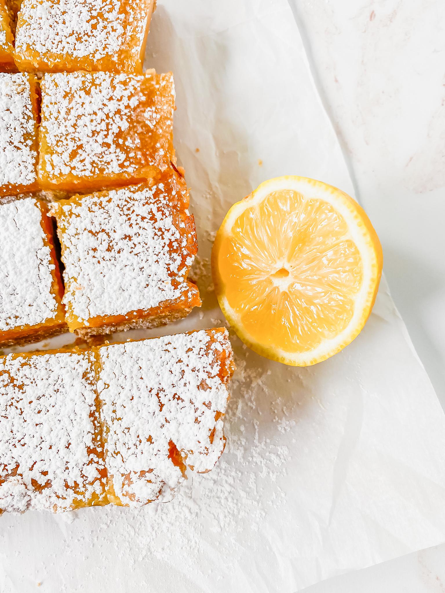 top view of lemon bars