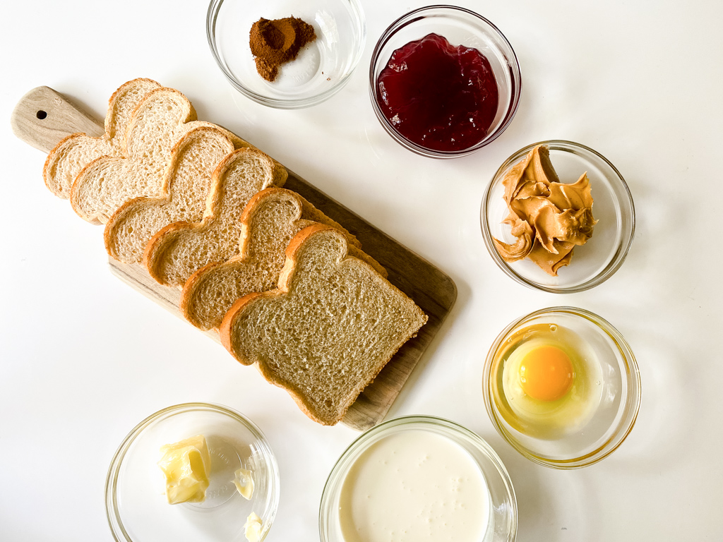 ingredients for peanut-butter-and-jelly-french-toast